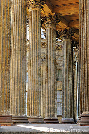Columns of the Kazan cathedral
