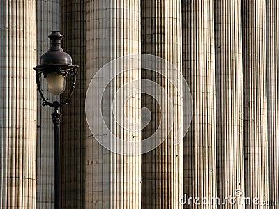 Columns and lighting pole 2