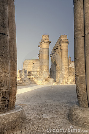 Columns in Luxor temple