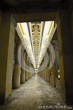 Columns at night