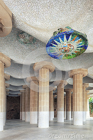 Free Columns Of Park Guell Royalty Free Stock Images - 79426889