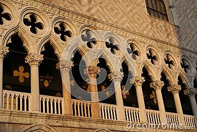 Columns of palazzo in Venice