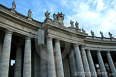 The columns of St. Peter in Rome
