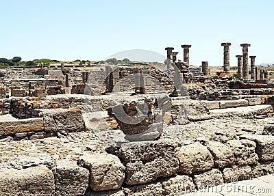 Columns and stones