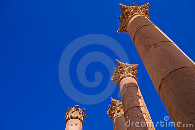 Columns in Temple of Artemis, Jerash Jordan