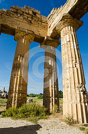 Columns of The Temple of Hera (Temple E) at Selinu