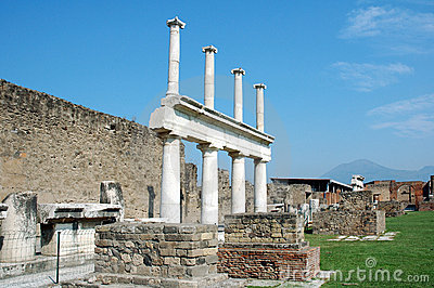 Columns and vesuvius