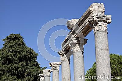 Colums in de Westelijke Poort van Agora