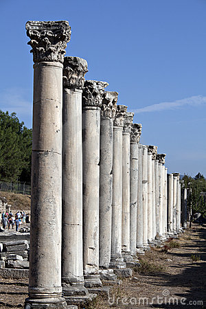 Colums in The Western Gate of Agora
