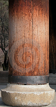 Coluna de madeira