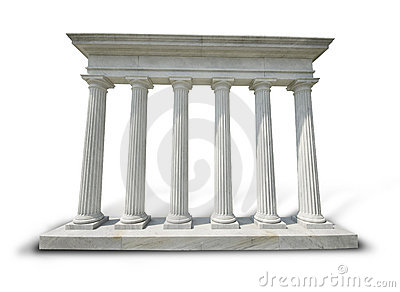 Colunas brancas - trajeto de grampeamento