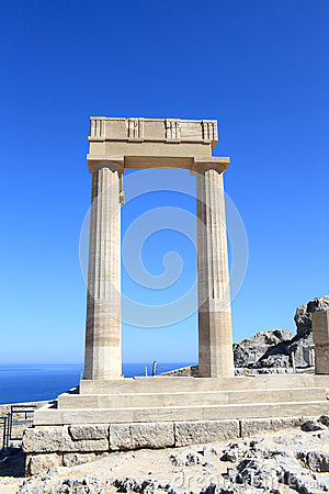 Colunas do stoa Hellenistic