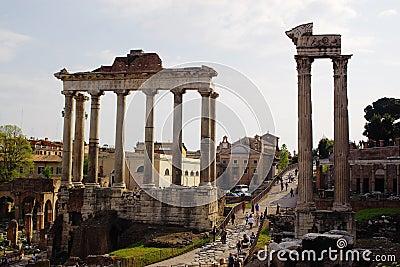 Colunas romanas antigas