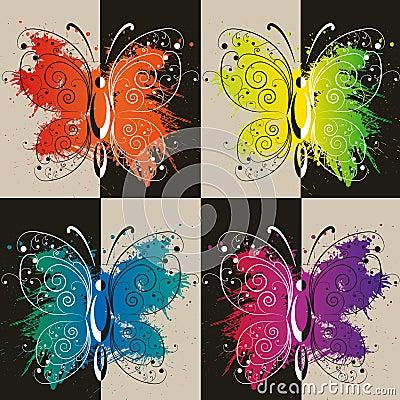 Colurful butterflies