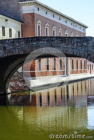 Comacchio - överbrygga