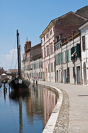 Comacchio. Emilia-Romagna. Italy.