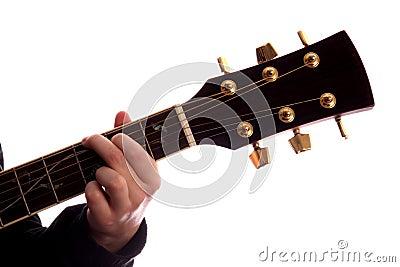 Comandante de G del acorde de la guitarra