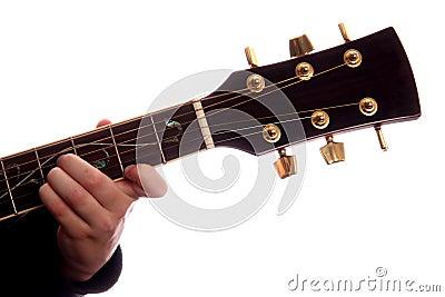 Comandante del acorde B de la guitarra