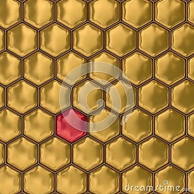 Free Comb Honey. 3D Image. Texture. Stock Image - 6749431