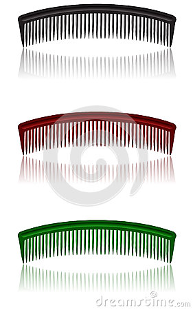 Comb isolated on white