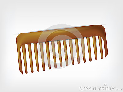 Comb  on white