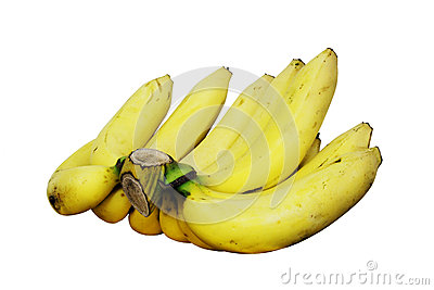 Comb of yellow bananas