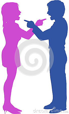Combat de point de hurlement de couples dans l argument