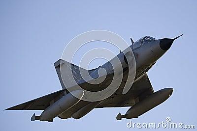 Combat Jet in Flight