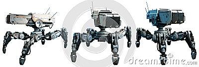 Combat robots Cartoon Illustration