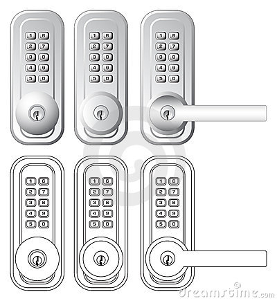 Free Combination And Key Door Lock Illustration Stock Images - 4953844