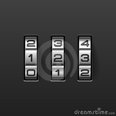 Free Combination Lock Royalty Free Stock Image - 14672356