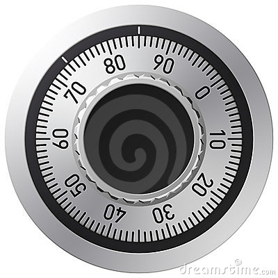 Free Combination Lock Royalty Free Stock Image - 6709876