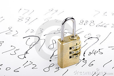 Combination Lock and Numbers