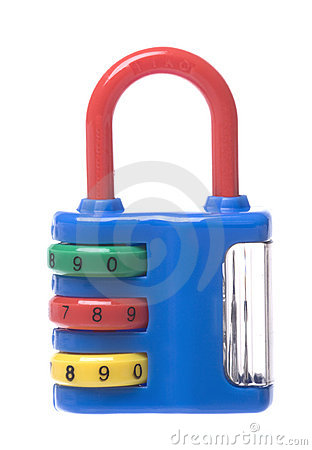 Free Combination Lock With Sharpener Isolated Stock Photo - 12133150