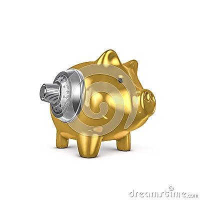Combination piggy bank