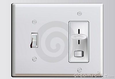 Combination Switch Plate With Dimmer Royalty Free Stock