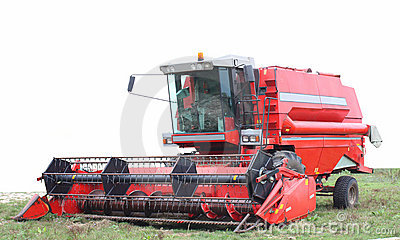 A Combine Harvester Stock Photo - Image: 15100890