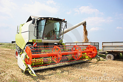 A Combine Harvester Stock Photography - Image: 15239192