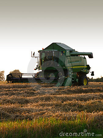 Combine Harvester Editorial Photography