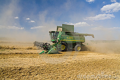 Combine John Deere Editorial Stock Photo