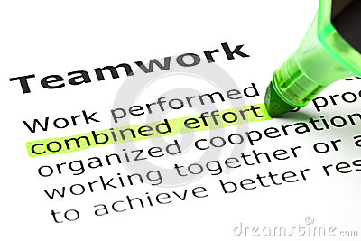 Combined effort highlighted, under Teamwork