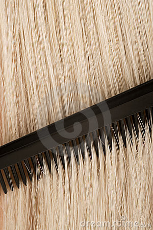 Combing blond hair