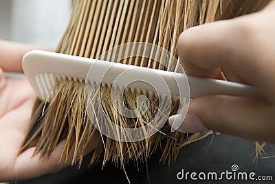 Combing of hair