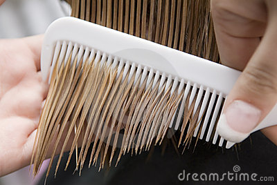 Combing of hair