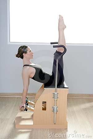 Free Combo Wunda Pilates Chair Woman Fitness Yoga Gym Royalty Free Stock Image - 19120946