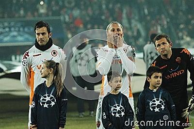 Começo COMO de Roma - fósforo de CFR Cluj Foto de Stock Editorial