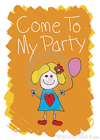 Free Come To My Party - Girl Royalty Free Stock Photography - 2954157