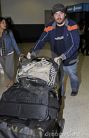 Comedian actor Danny McBride at LAX airport Editorial Photography