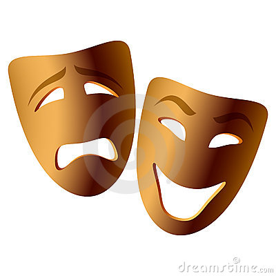 Free Comedy And Tragedy Masks Royalty Free Stock Photography - 6632197