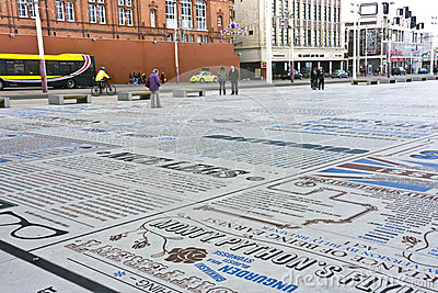 Comedy Carpet at the seafront in Blackpool, Englan Editorial Stock Photo